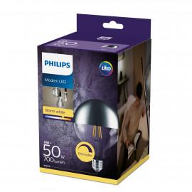 Philips LED Filament Topforspejlet 50W Globe E27 klar dæmpbar 1 stk - 8718699593414