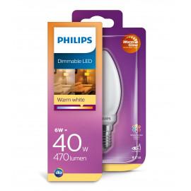Philips LED Glas kerte 40W E14 warm glow mat dæmpbar 1 stk - 8718699697198