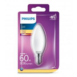 Philips LED Glas kerte 60W E14 varm hvid mat ikke dæmpbar 1 stk - 8718699648824