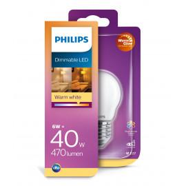 Philips LED Glas krone 40W E27 warm glow mat dæmpbar 1 stk - 8718699697211
