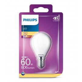 Philips LED Glas krone 60W E14 varm hvid mat ikke dæmpbar 1 stk - 8718699648848