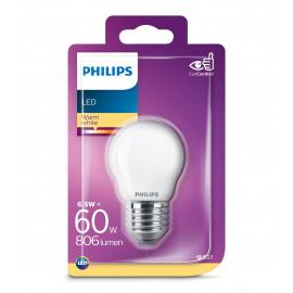 Philips LED Glas krone 60W E27 varm hvid mat ikke dæmpbar 1 stk - 8718699648862