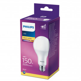 Philips LED Plast 150W standard varm hvid mat E27 ikke dæmpbar 1-stk - 8718696813799