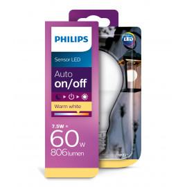 Philips LED Sensor 60W standard E27 varm hvid mat ikke dæmpbar 1 stk - 8718696739402