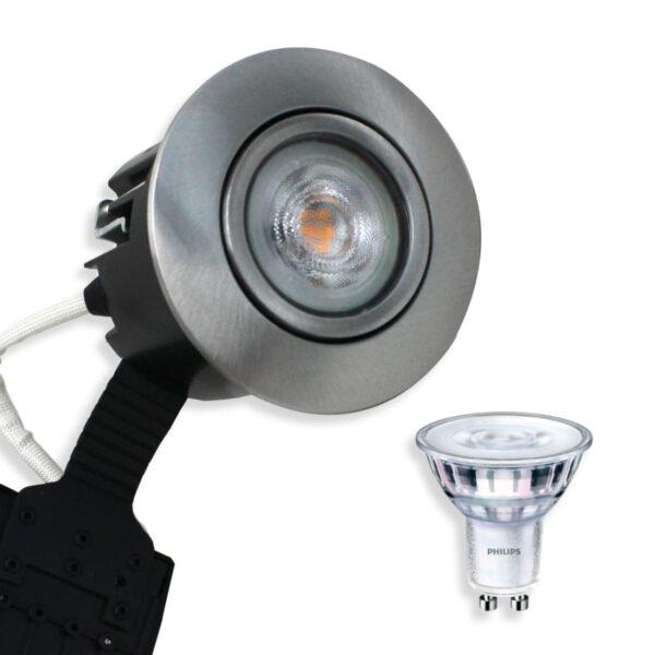 Philips LED Spot Børstet Alu. Quick UNI Install (Dæmpbar)