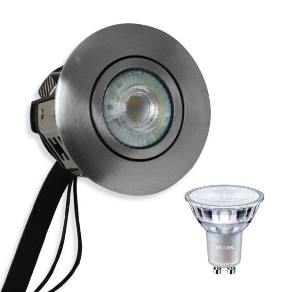 Philips LED Spot Ra90 Børstet Alu. Punto Gu10 230V (Dæmpbar)