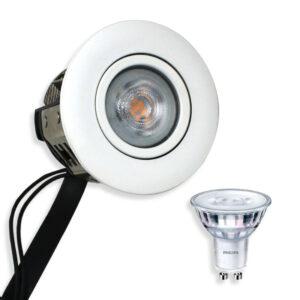 Philips LED Spot Rustfri Mat. Hvid Punto Gu10 230V (Dæmpbar)