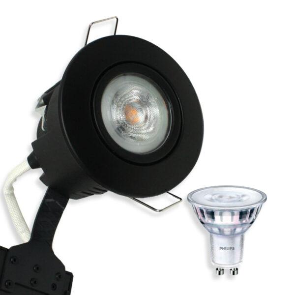 Philips Sort LED Spot, Quick UNI Install (Dæmpbar)
