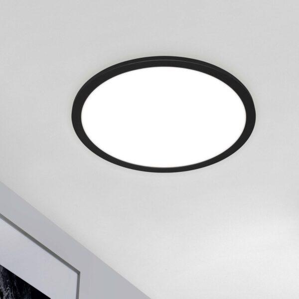 Piatto CCT LED-panel, fjernbetjening, rundt, sort
