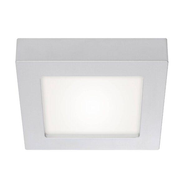 Prios Alette LED-loftlampe, 22,7 cm, sølv, 18 W