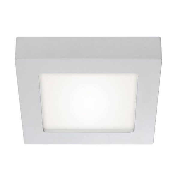 Prios Alette LED-loftlampe, 22,7 cm, sølv, 24 W