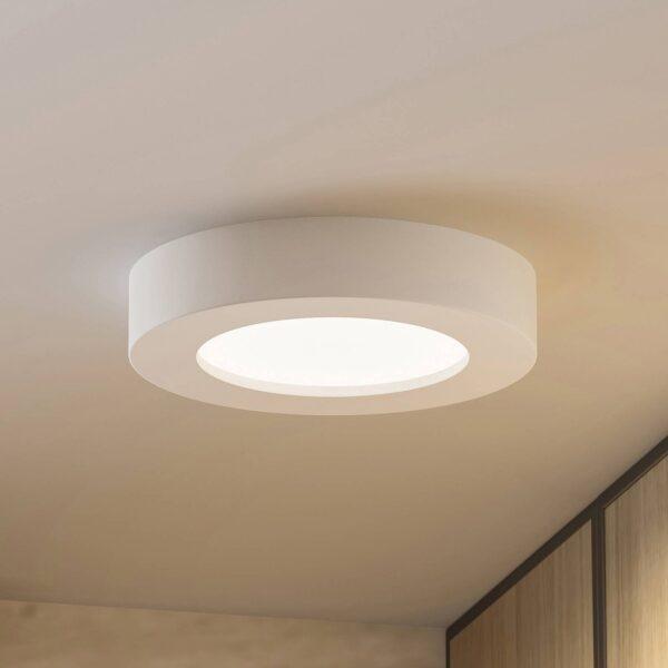 Prios Edwina LED-loftlampe, hvid, 17,7 cm