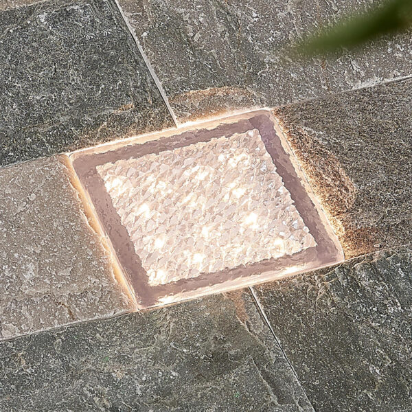 Prios Ewgenie LED-nedgravningslampe, 10 x 10 cm