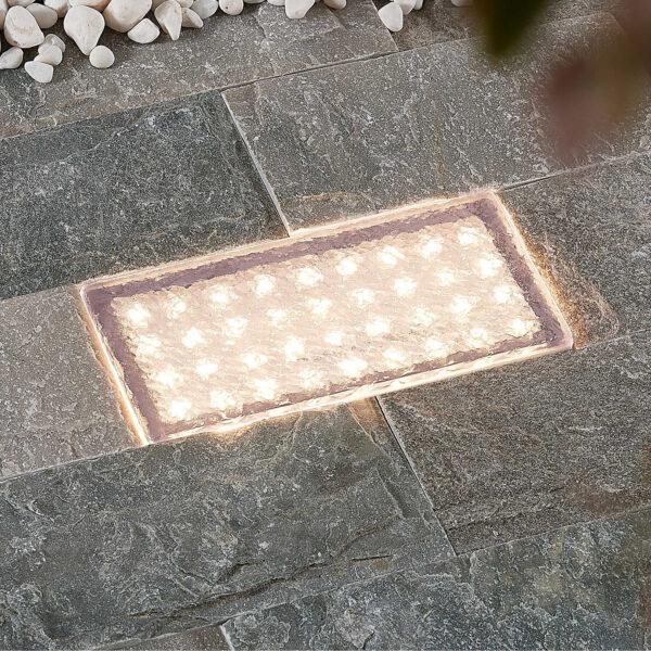 Prios Ewgenie LED-nedgravningslampe, 20 x 10 cm