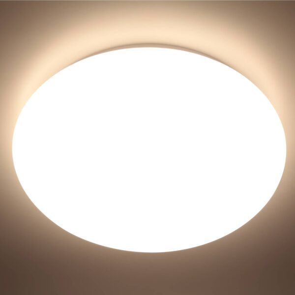 Prios Kisal LED-loftlampe med sensor IP44, 27 cm