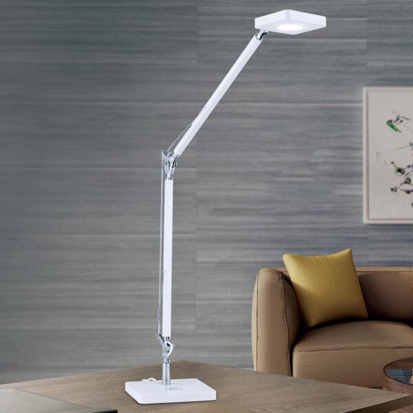 QI aktiveret LED skrivebordslampe Dave i hvid