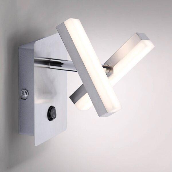 Rico kvadratisk LED-væglampe med to lyskilder