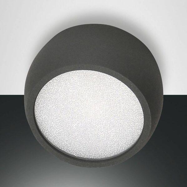 Rundt Vasto LED-downlight, antracit