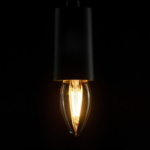 SEGULA LED-lampe E27 4 W B35 2600 K, klar, dæmpbar