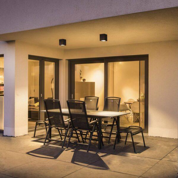 SLV Big Theo udendørs loftlampe med LED, antracit