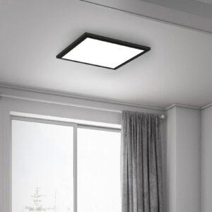 Simple LED-panel, sort, ultrafladt, 30 x 30 cm