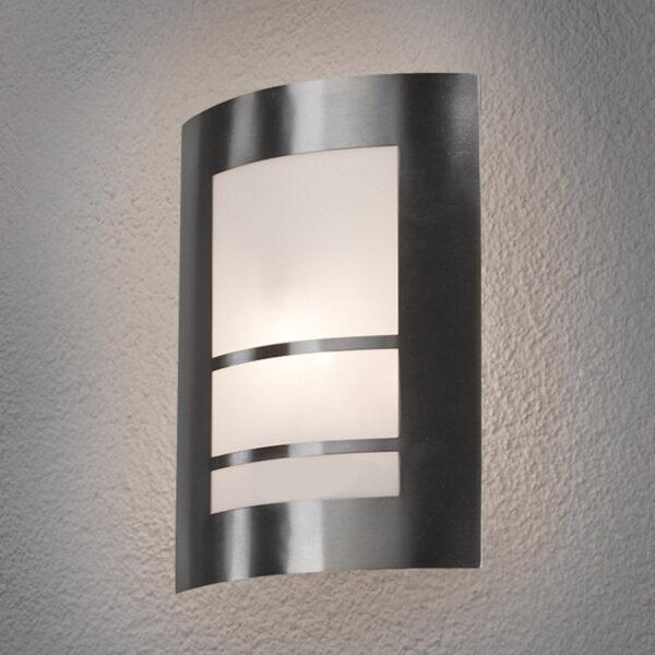 Smuk LED-udendørs væglampe Katalea i sølv