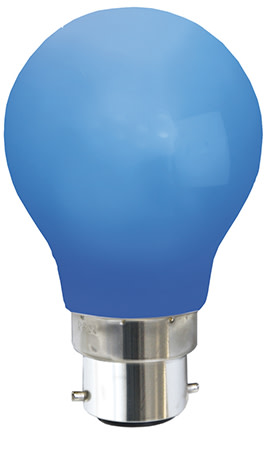Star Trading - Farvet B22 LED Pære-Blå