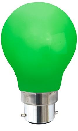 Star Trading - Farvet B22 LED Pære-Grøn