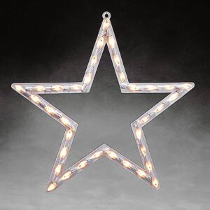 Stjerne vinduessilhuet m. LED, indendørs varmhvid