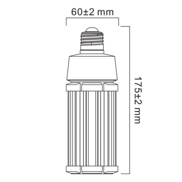Sylvania LED-pære E27, 27 W, 4.000 K, 3.400 lm