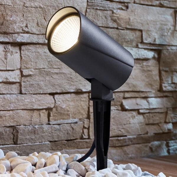 Udendørs LED-spot Anton med jordspyd