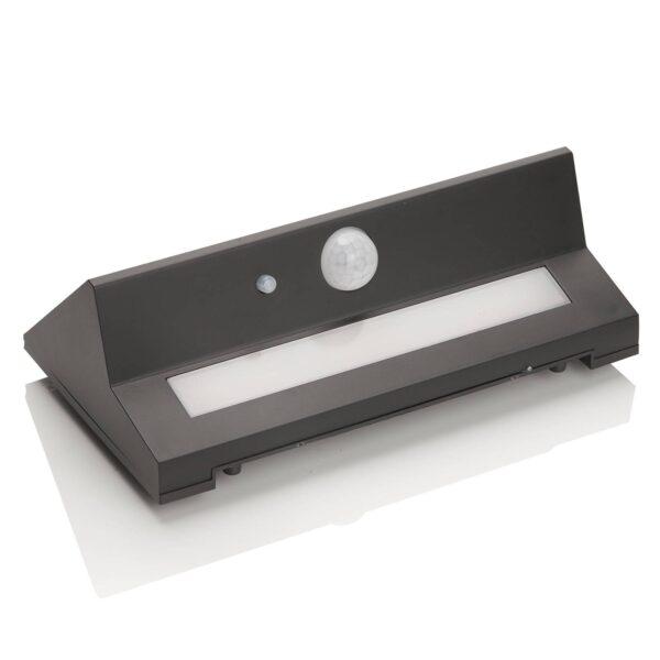 Udendørs LED-væglampe Kristiana, solceller, sensor