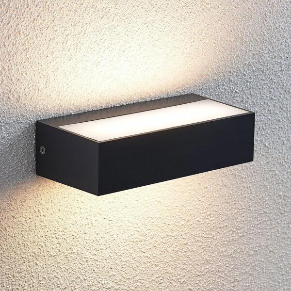 Udendørs LED-væglampe Nienke, IP65, 17 cm