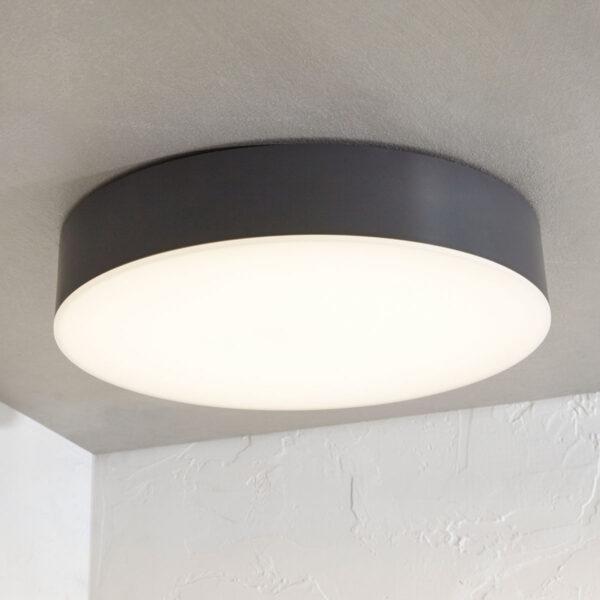 Udendørs loftlampe Lahja med LED, IP65, mørkegrå