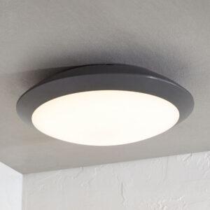 Udendørs loftlampe Naira med LED, grå, uden sensor