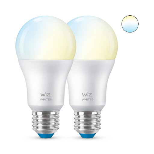 WIZ E27 LED standardpære - varm til kold - 2-pak