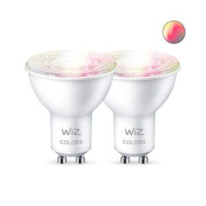 WiZ GU10 LED spotpære - farver + hvid - 2-pak