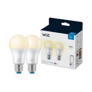 WiZ WiFiBLE E27 LED Dimmable Bulb - 2-Pack