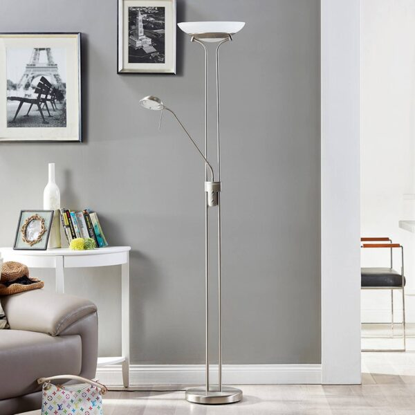 Yveta LED uplight-lampe med læselampe
